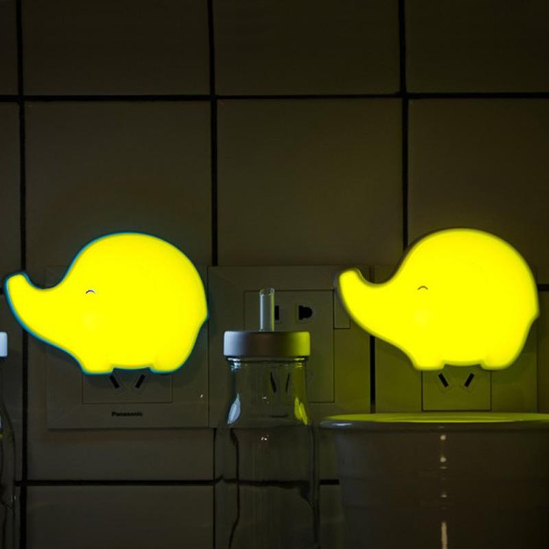 led光控声控一体 小象小夜灯